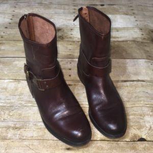 Franco Sarto pierce tobacco buckle leather boot 10